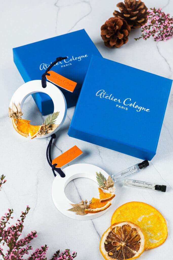 賓客可以獲贈限量 Atelier Cologne 節日禮品,包括香氛陶瓷和精醇古龍。
