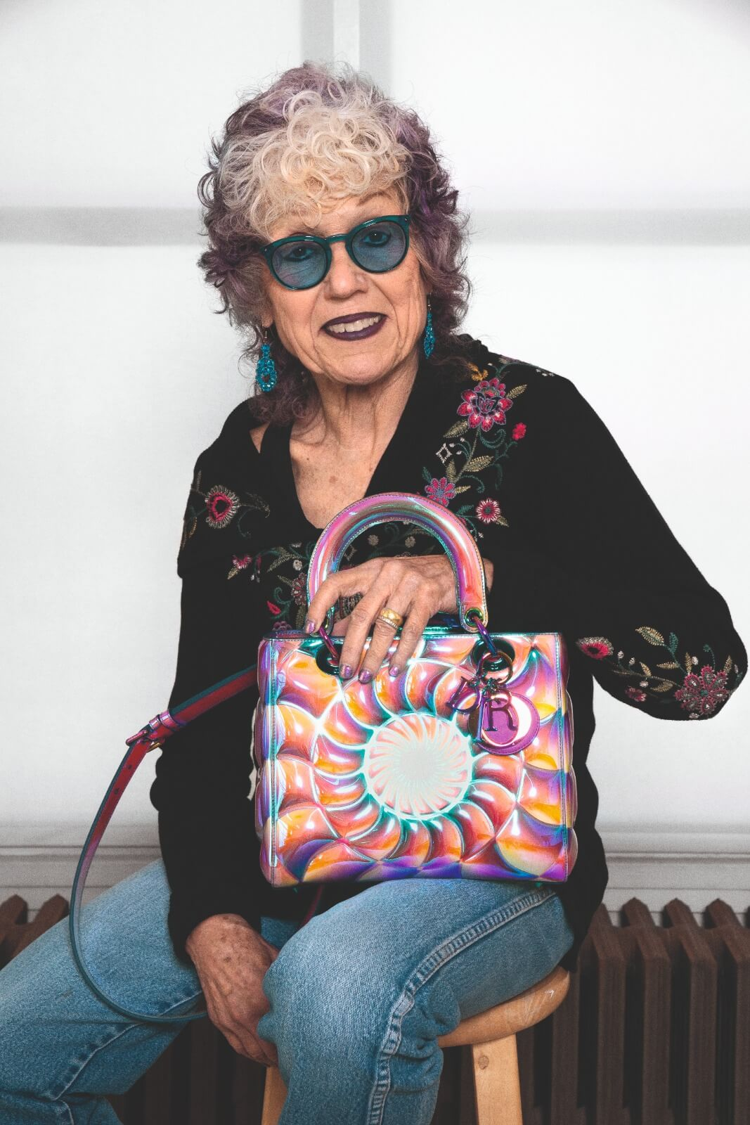 DIOR LADY ART LIMITED EDITION IN COLLABORATION WITH JUDY CHICAGO PHOTO BY DONALD WOODMAN