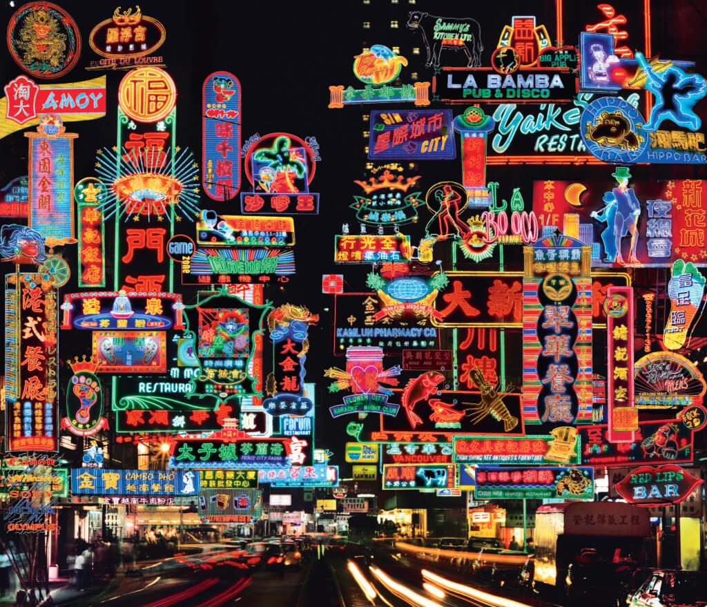 Keith MacGregor以拼貼手法, 將香港霓虹的璀璨表露無遺。( 圖片由Keith MacGregor提供)