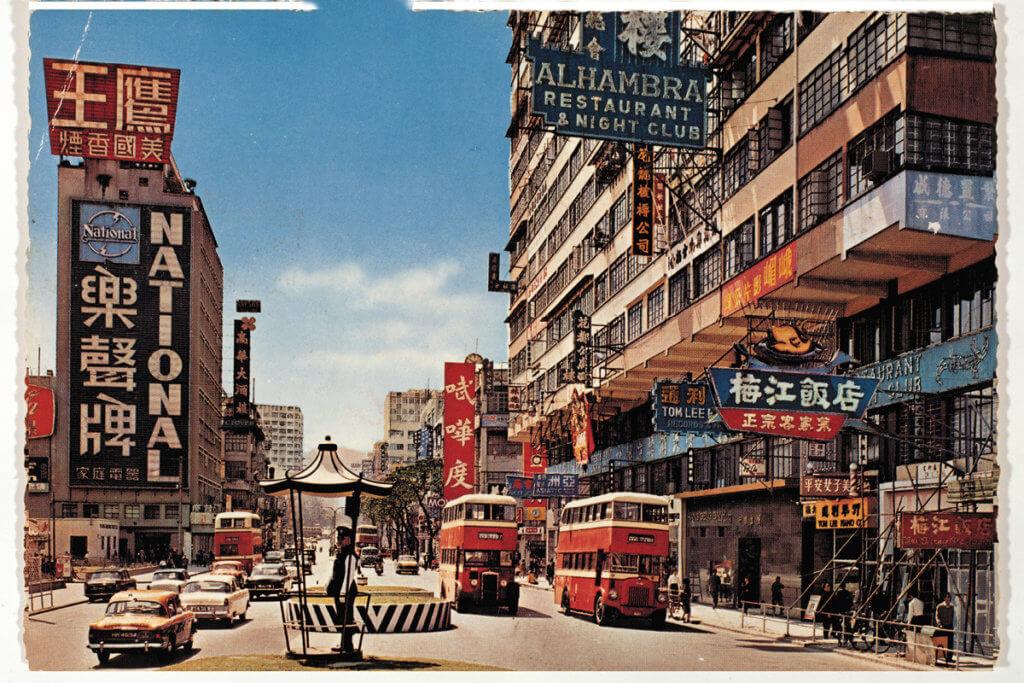信興集團於1962年在彌敦道樹立全港最大的霓虹招牌─樂聲牌電器 (圖片由信興集團提供)