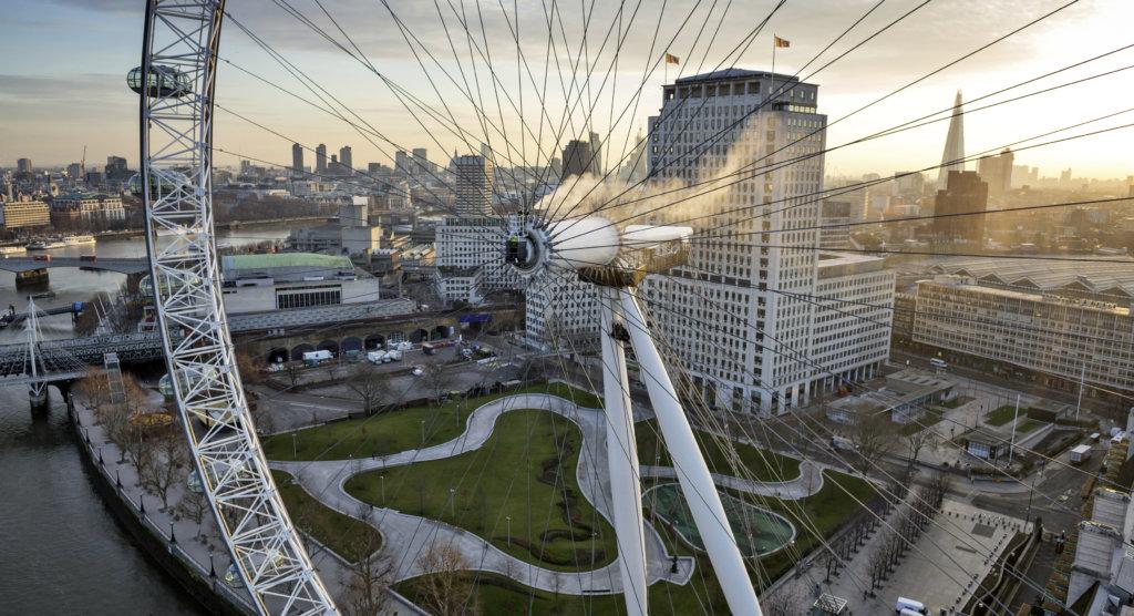 英國著名地標倫敦眼同樣是KÄRCHER慈善清洗工程的對象之一