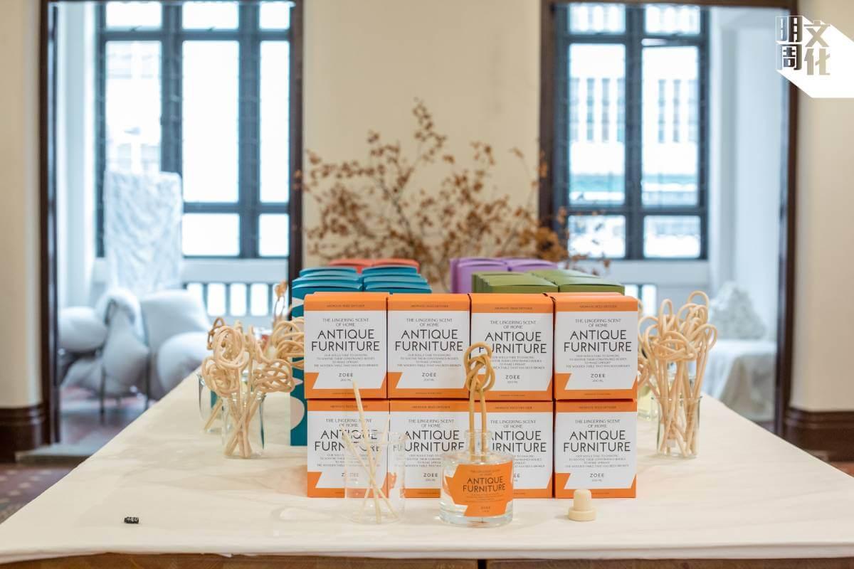 五種香味根據一百位受訪者的回應而調配