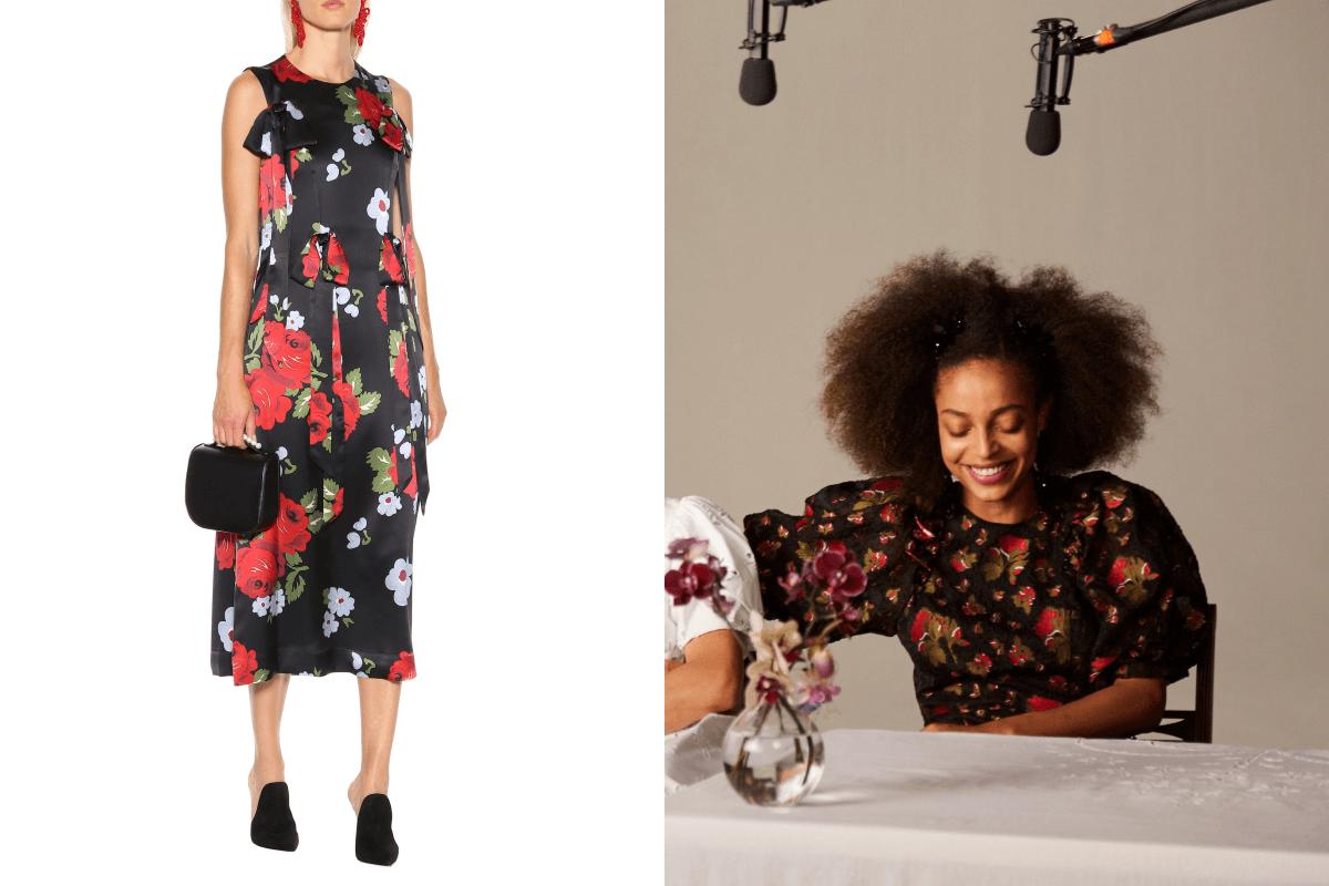 SIMONE ROCHA 標誌性的Floral-printed 長裙原價為$11,520,今次聯名系列有相似款式,而且價格更親民,相當令人期待!
