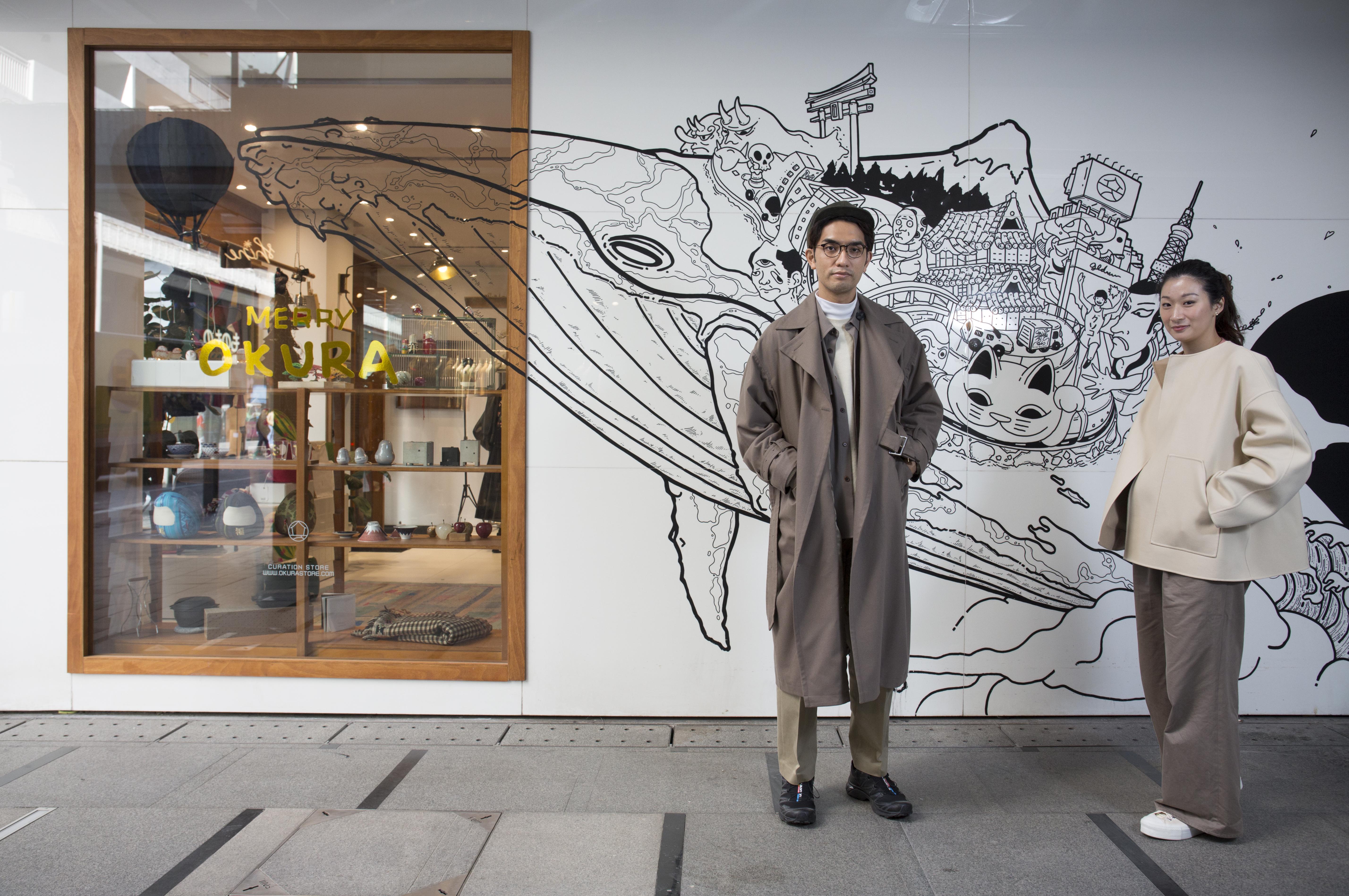 OKURA店主Frankie與Cyrus夫妻倆鍾愛日系時尚,二人利用多年來累積的經驗展開了自己的小生意。