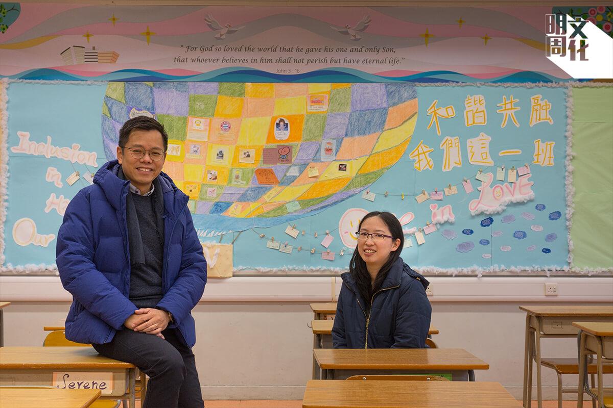 劉振波(左)和李燕芳(右)分享招收非華語學生的經驗,認為老師和華語學生在過程中也有得着。