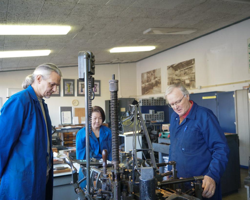 重鑄「香港字」的大計,在荷蘭韋斯特贊鑄字工房實行。