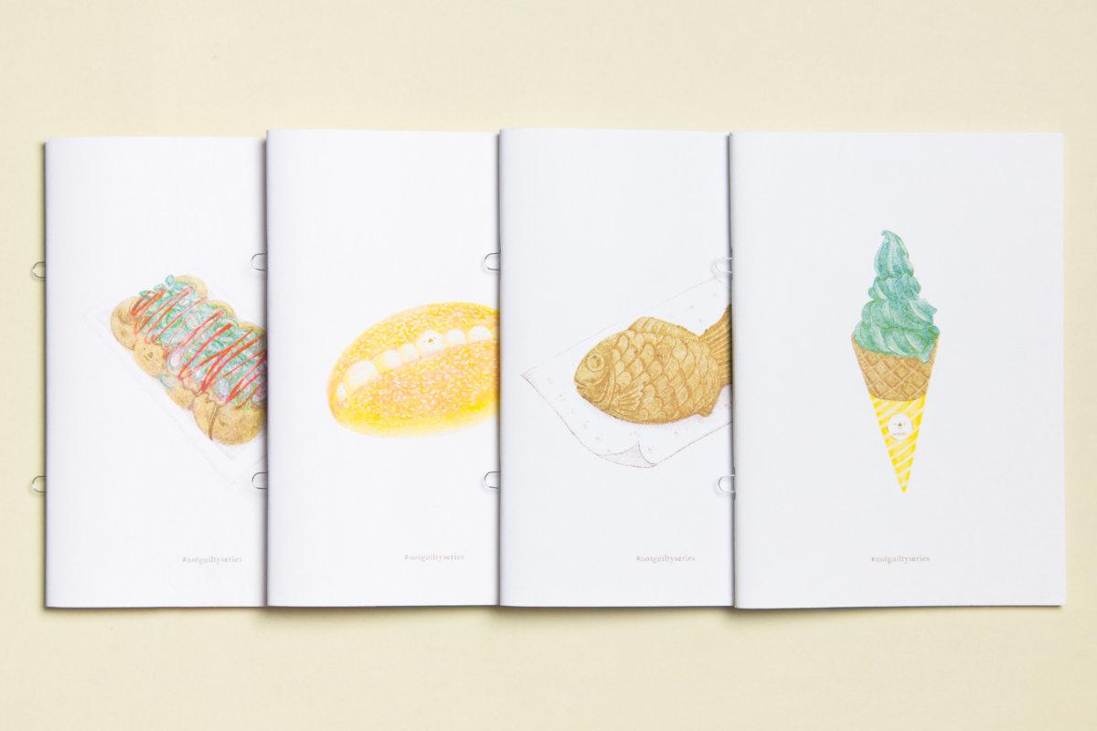 三人承印不少本地創作人的作品,圖為插畫家Triangle nose的作品集。