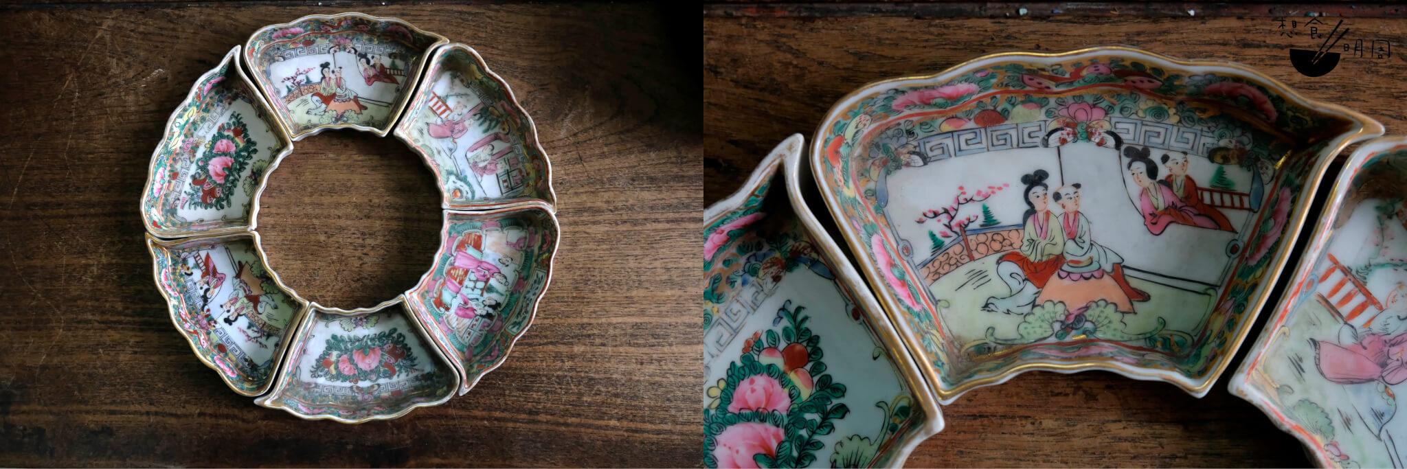 陳舊的七子圍碟,即便是中間的圓碟已缺、其餘組件難以出售,但正因是廠內出品,曹志雄都不捨得丟棄。