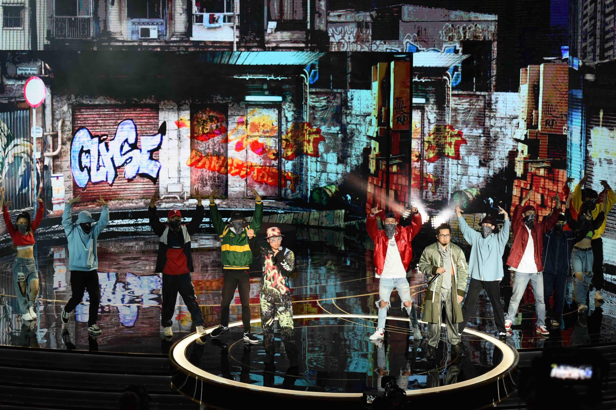 Heyo及阿弗更得到機會在金馬台上演唱歌曲(金馬執委會提供)