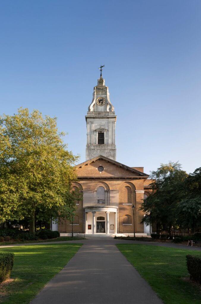 1797年落成的Hackney Church,歷史悠久。
