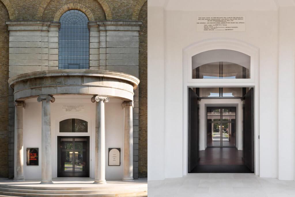 教堂的外觀和屋頂,已完成修復。入口處更增設無障礙通道。