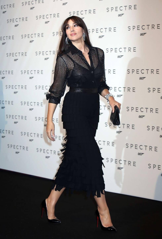 Monica Bellucci穿著Azzedine Alaïa