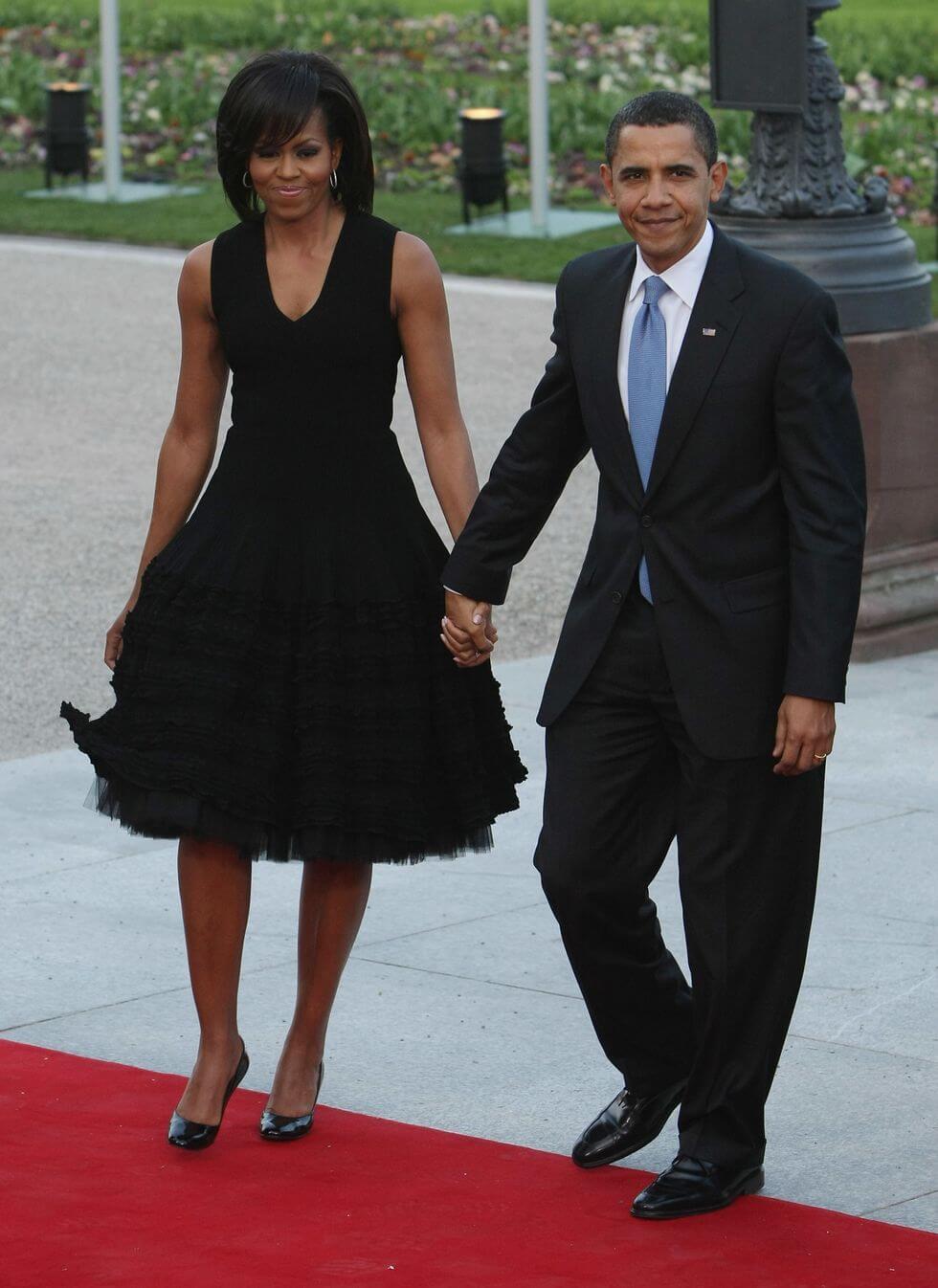 Michelle Obama穿著Azzedine Alaïa