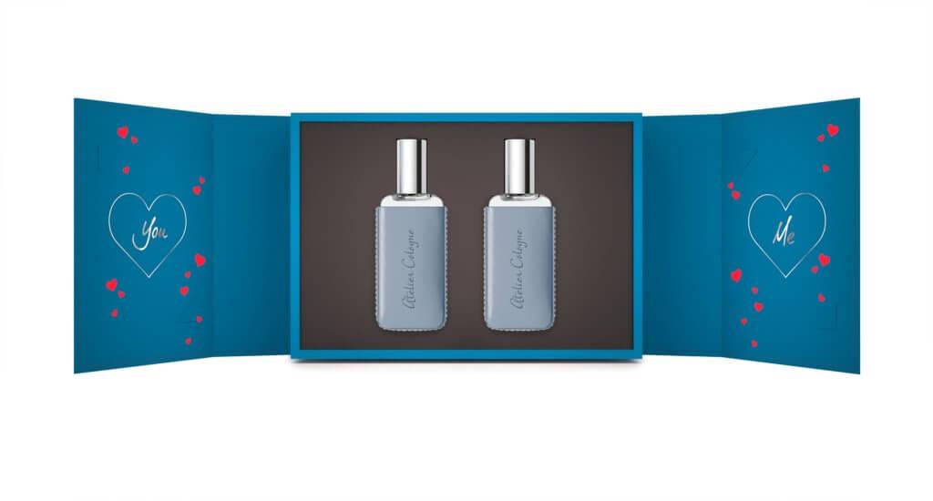 Atelier Cologne情人節限量版禮盒設計,以各國語言演繹出「我愛你」的訊息,配上品牌的精醇古龍,是情人節的禮物首選。於2月1日至2月5日(網店)或2月5日至2月 15 日(專門店及專櫃)期間,購買任何30ml 精醇古龍,可獲贈情人節限量版禮盒乙個及自選情人節賀卡兩張。