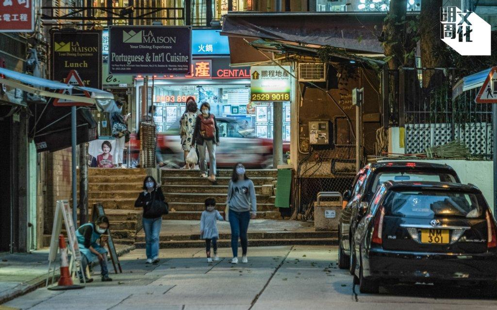 汕頭街盡處有一段梯級,是以前碼頭的遺蹟。