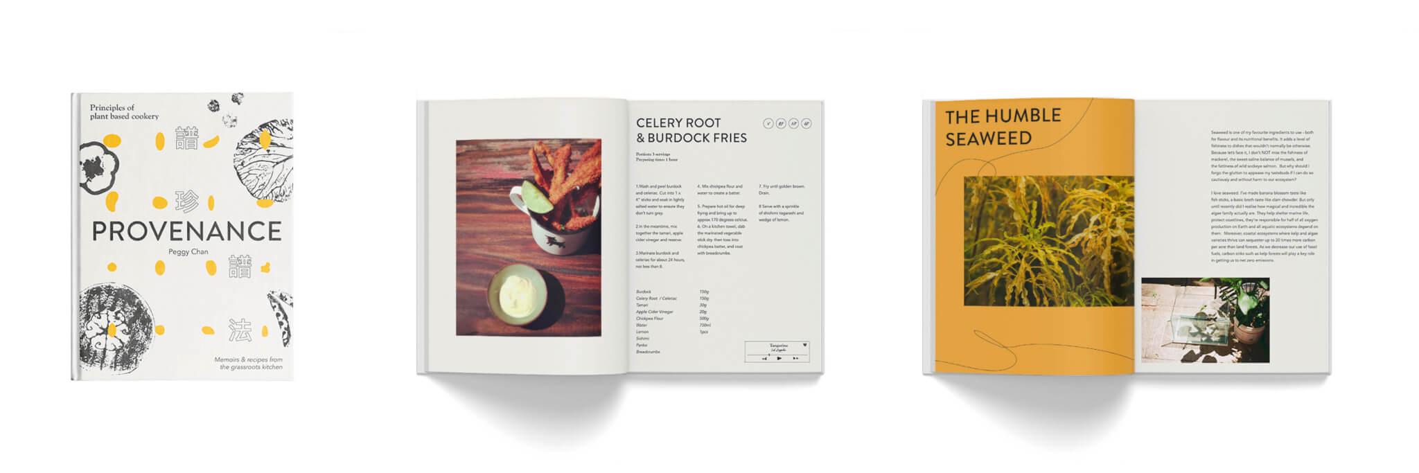 《Provenance譜珍譜法: Principles of plant-based cookery》 // 由Peggy所撰寫的新書內,收錄了許多與自然有關的食材,以及相關的烹調技巧。目前正在眾籌中。