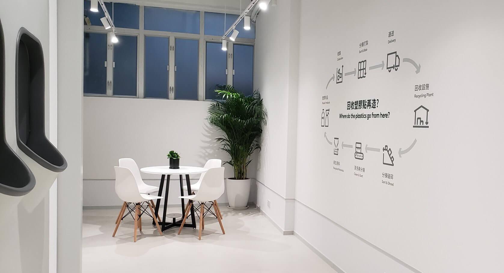 部分店內設有座椅讓人休息,甚至有空間舉辦公眾工作坊(圖片來源:綠在天后)