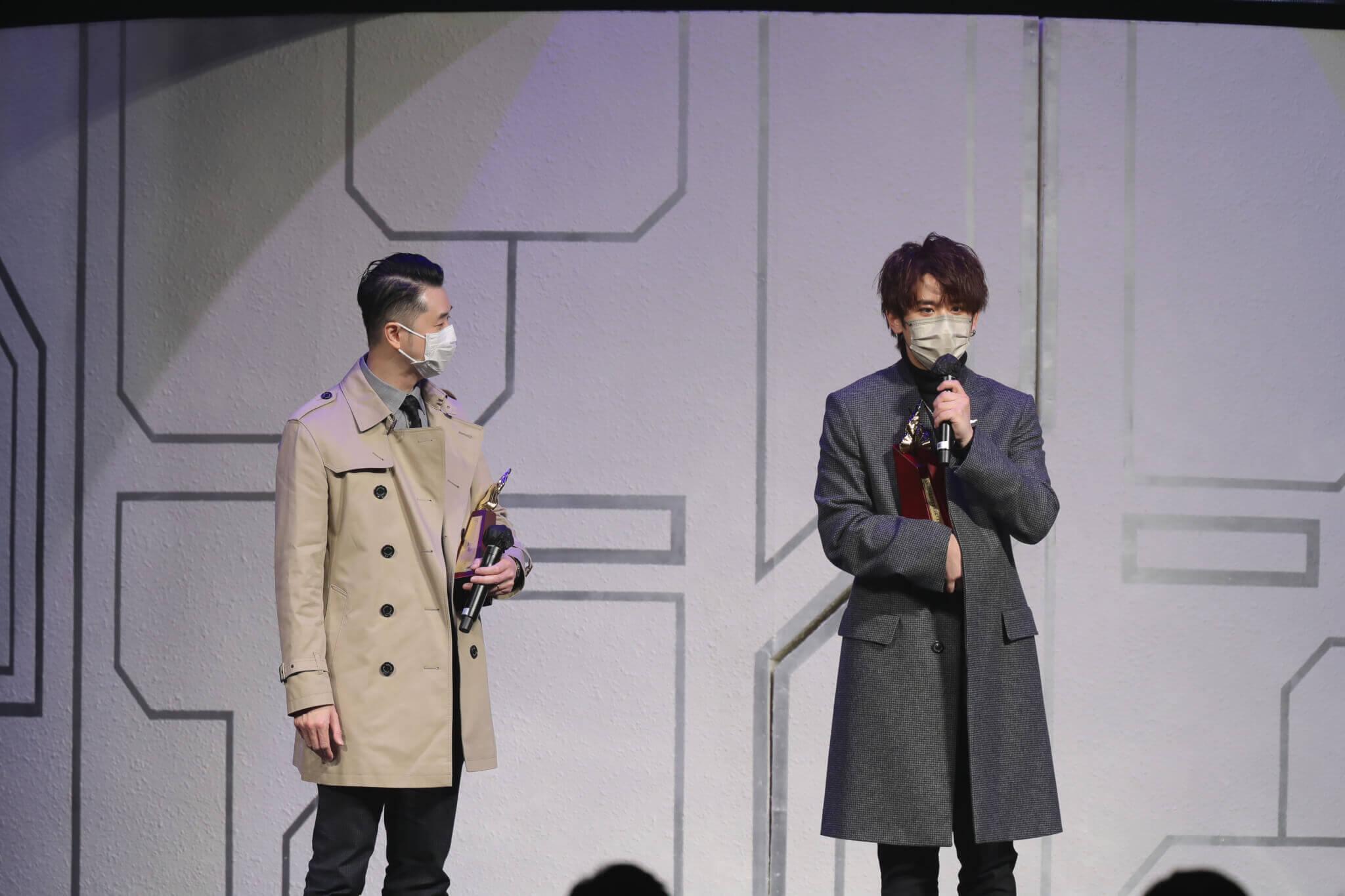 姜濤在今年「叱咤」奪「我最喜愛的男歌手」, 不忘多謝花姐。