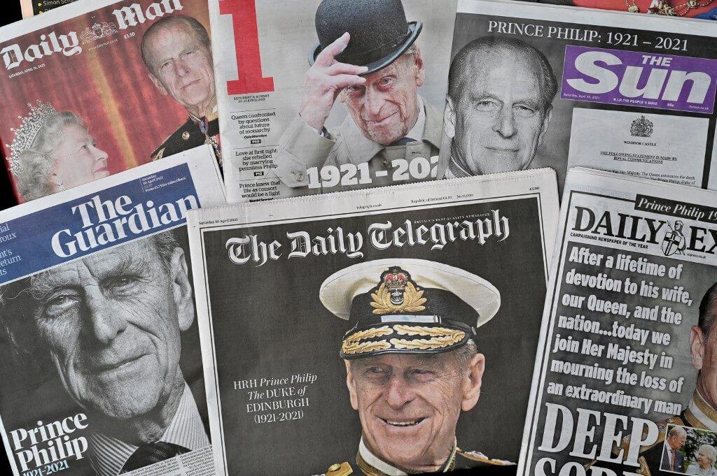 希臘親王逝世,享壽九十九歲。其訃聞在近一星期成為英國最重要的頭條新聞。