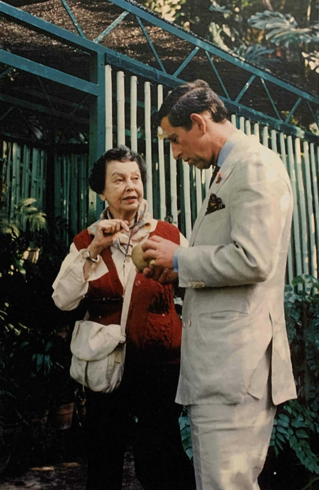 歌莉亞·白理桃與威爾斯親王查理斯(被訪者提供)