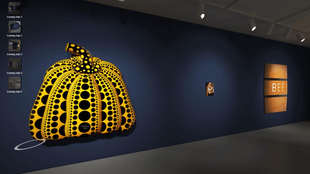 蘇富比亦設線上虛擬展覽