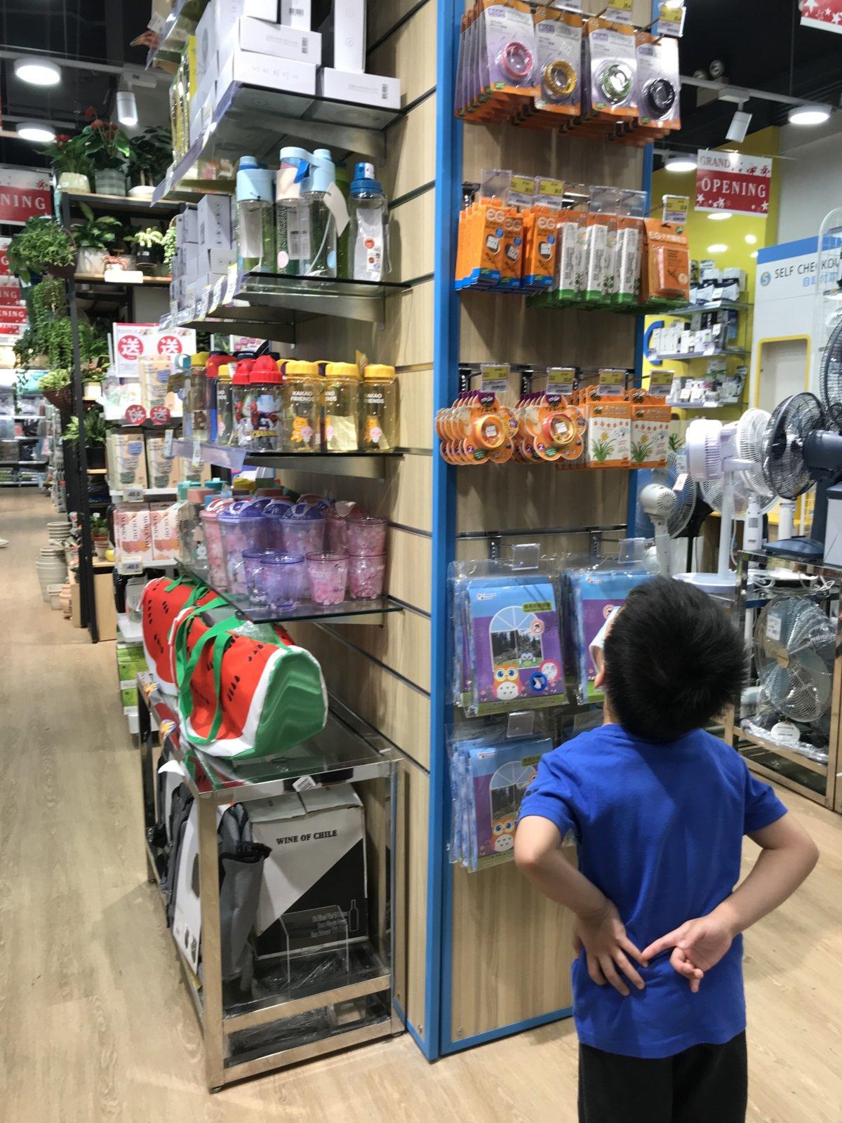 兩小決定買日本城的股票後,每次經過,都想入內「巡舖」。