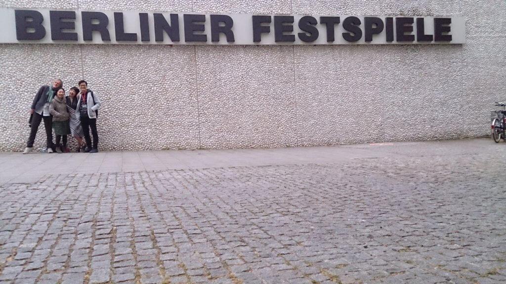 攝於2016年獲得柏林戲劇節劇本市集之時