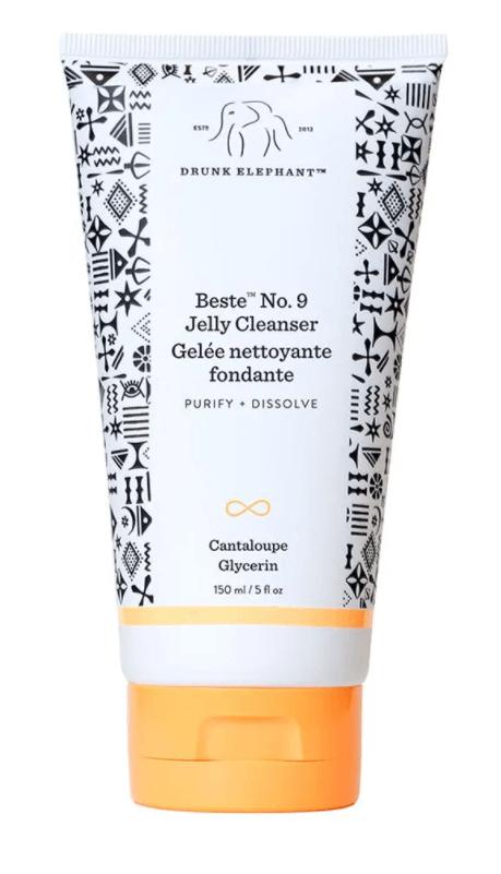 一般清潔:DRUNK ELEPHANT Beste™ No. 9 Jelly Cleanser 無論在穩定期/出狀況時都可以安心使用的clean beauty product,有種淡淡的豆腐香,清潔能⼒不俗,亦不會帶走皮膚⽔份。