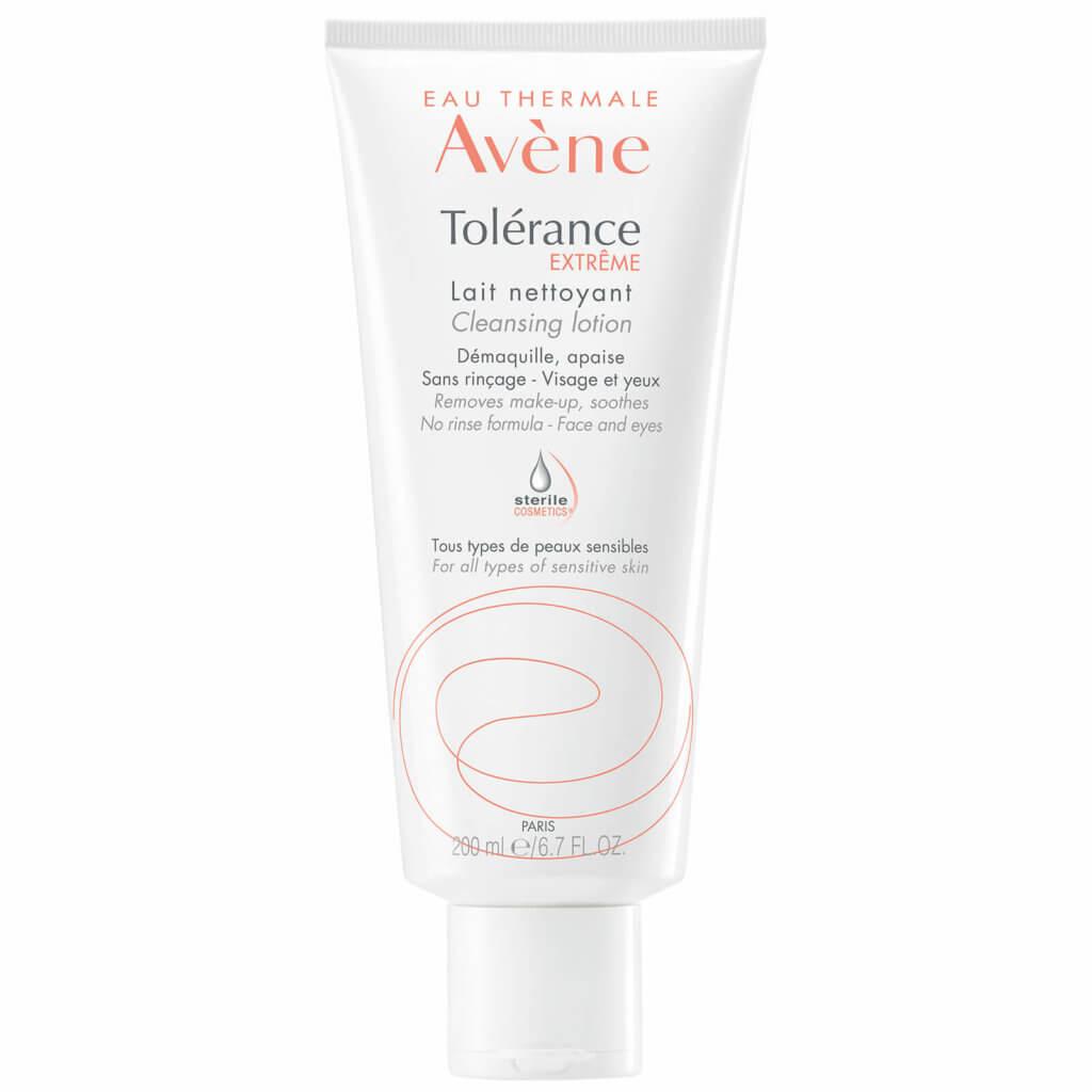 溫和卸妝:Avène Tolérance Extrême Cleansing Lotion 少部份殘留的底妝會⽤這款 cleaning lotion去除,非常溫和無負擔。
