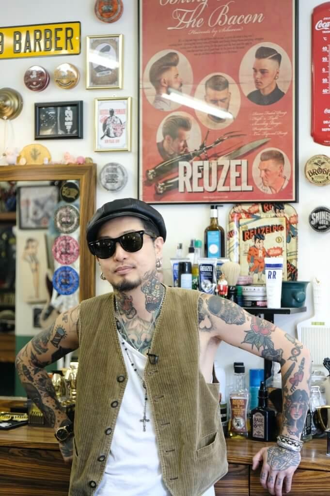 The 59 Tattoo & Barber Shop髮型師兼老闆Mike