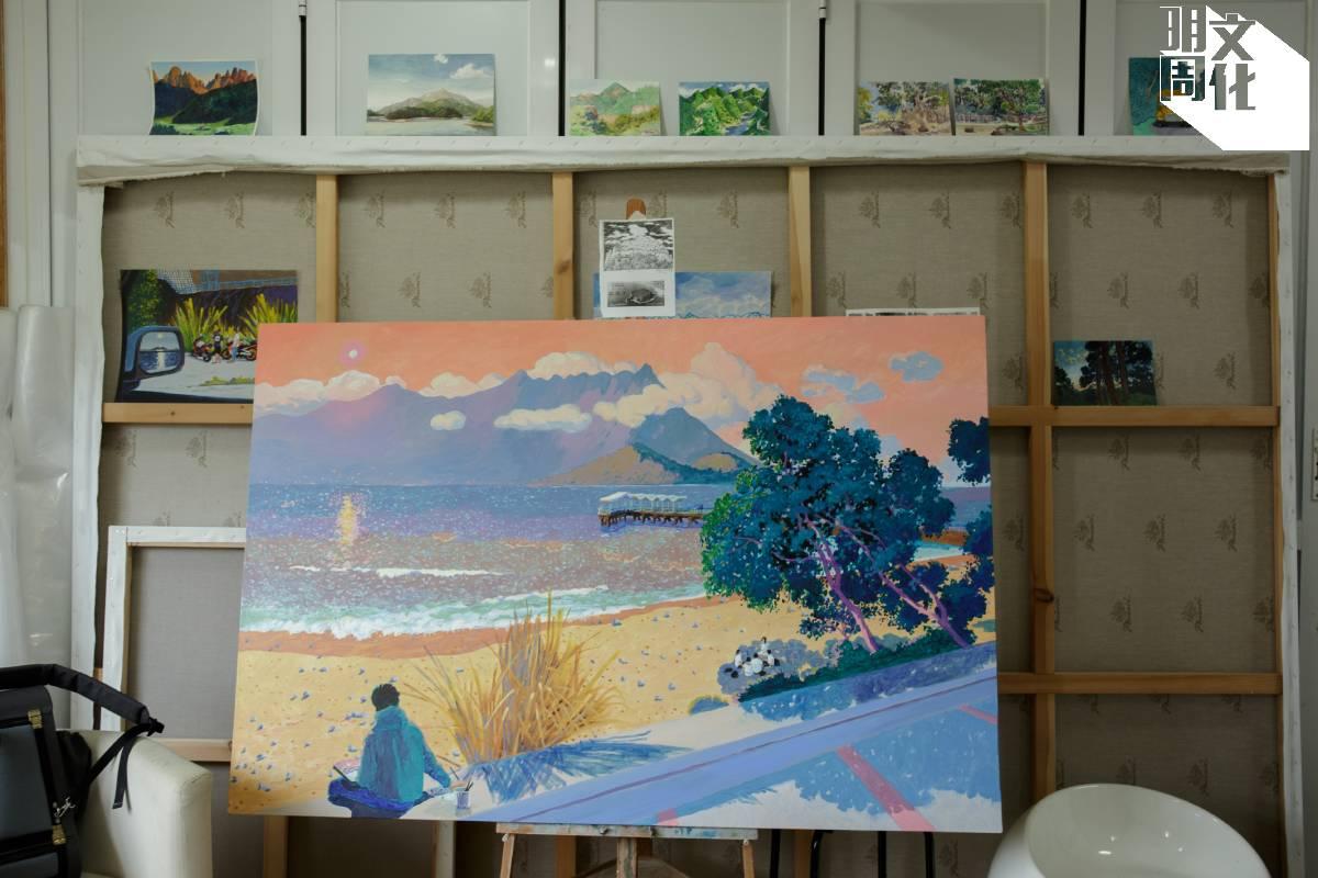 一次寫生時,黃進曦在馬鞍山碼頭看見一羣中學生玩Truth or Dare,對此情景記憶猶新,作畫時更把自己畫在其中。