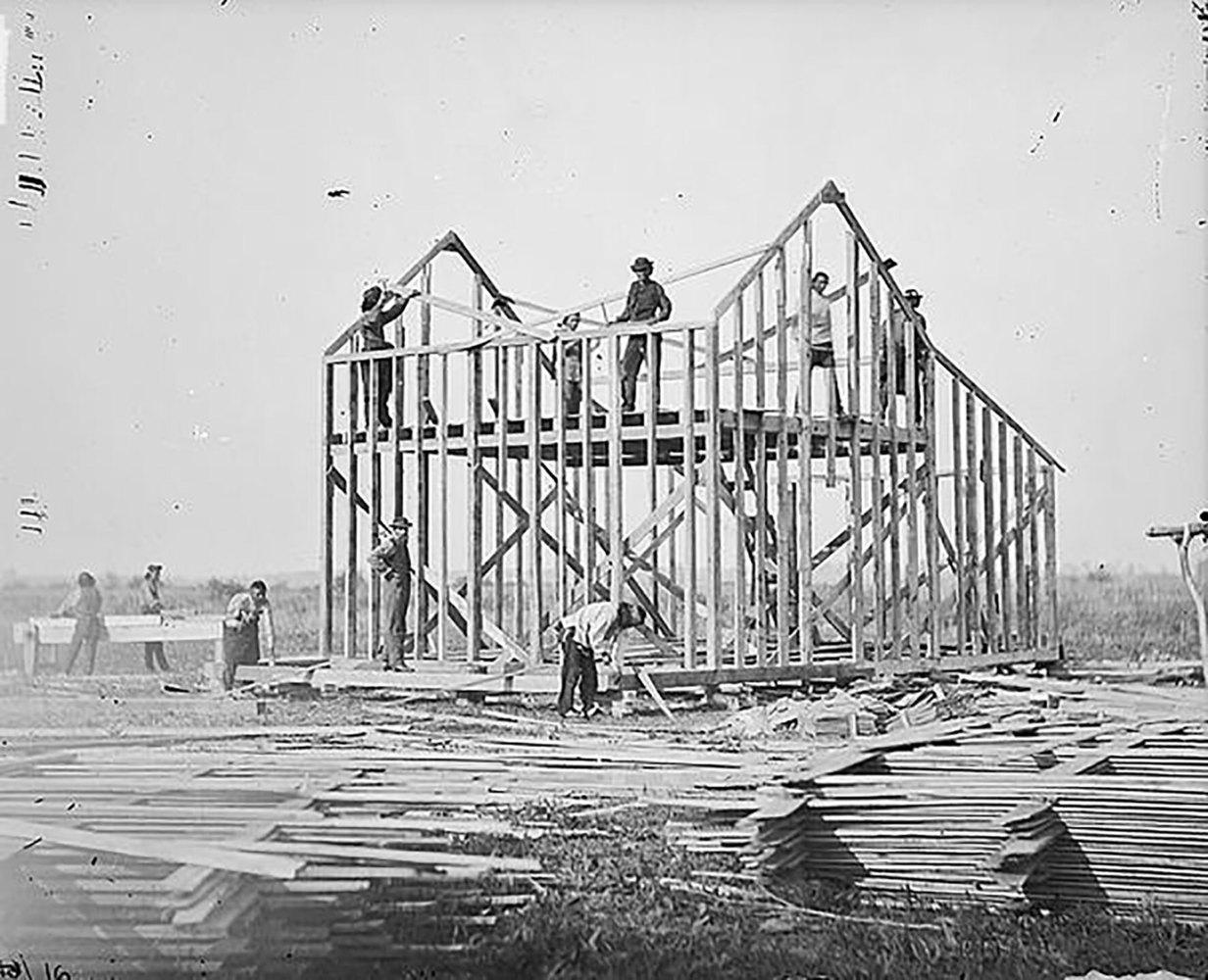 木製支架是美國十分常見的建築結構