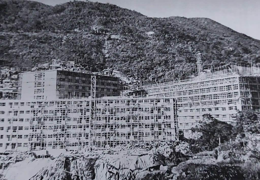 一九六二年興建漁光村時的舊相(陳志華提供)