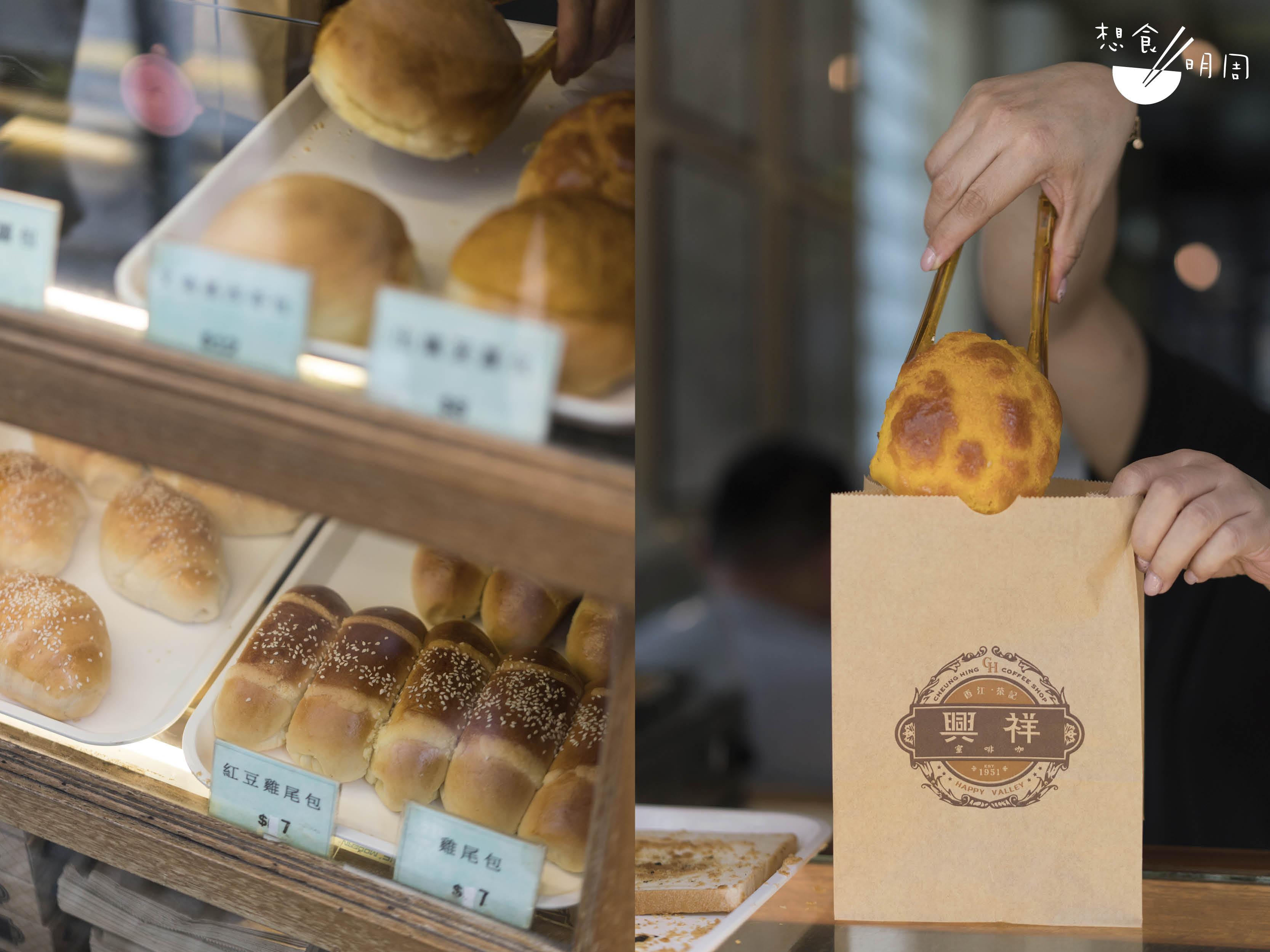 羅先生接手後的祥興咖啡室,重新聘請師傅在店內製作麵包,每日新鮮出爐。