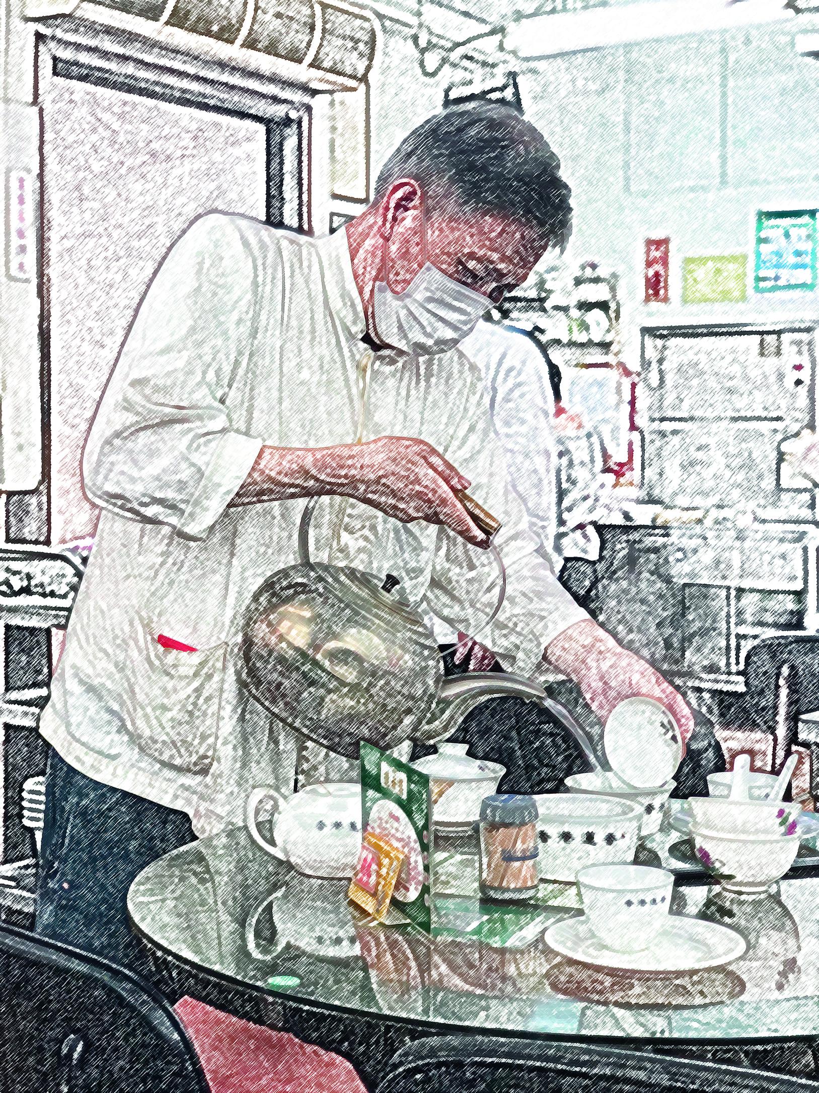 蓮香從廣州分支到香港已有百年歷史,陳設裝修、點心車仍然保留傳統,環境氣氛不是現在的連鎖茶樓可比。 (攝影:黃怡穎)