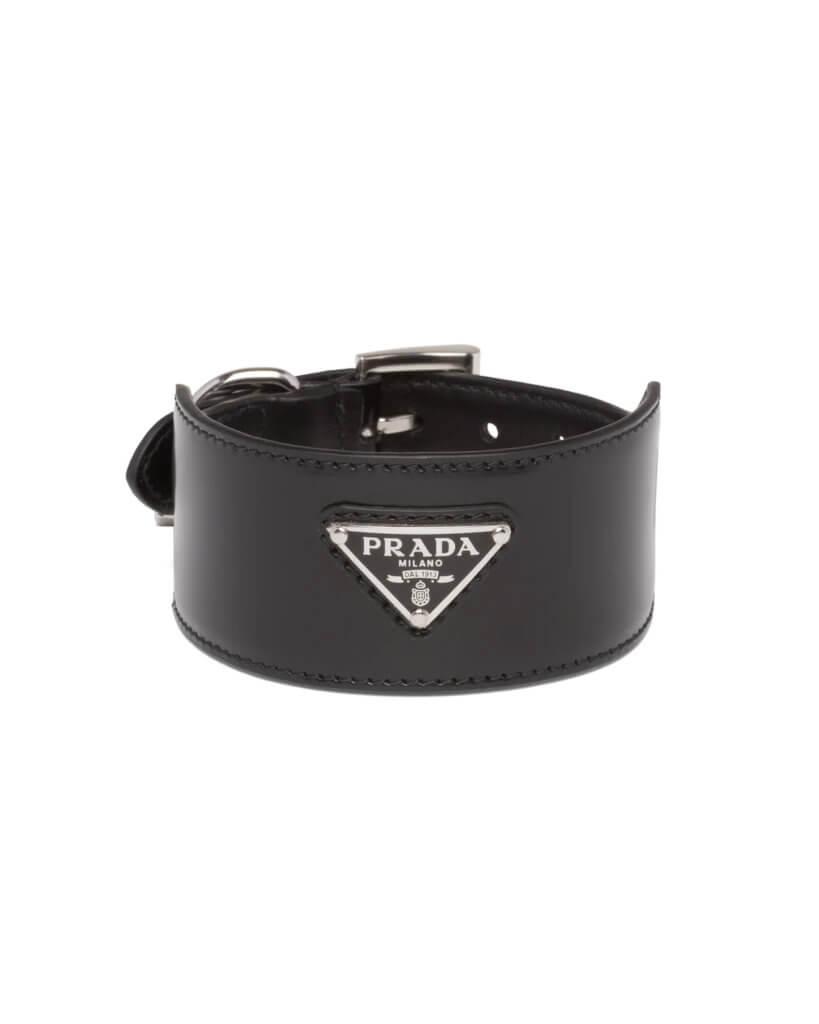 Prada Brushed leather pet collar $3,600