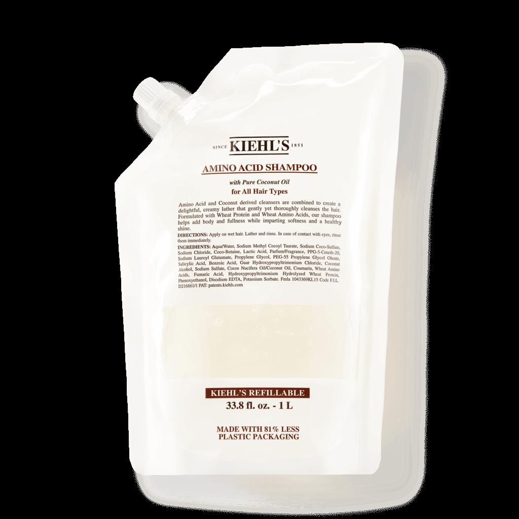 Kiehl's皇牌頭髮護理產品,提供1L環保補充裝: 氨基酸洗髮水 $620 / 1L