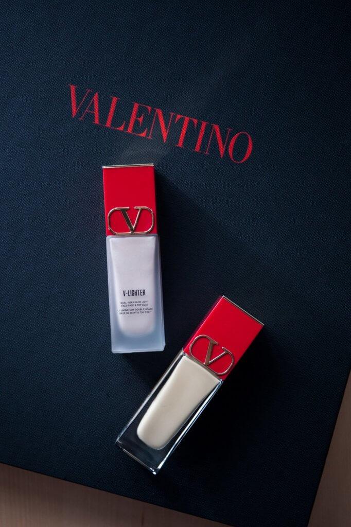 Very Valentino foundation SPF 25 $435 V-Lighter Face Base and Top Coat primer $435