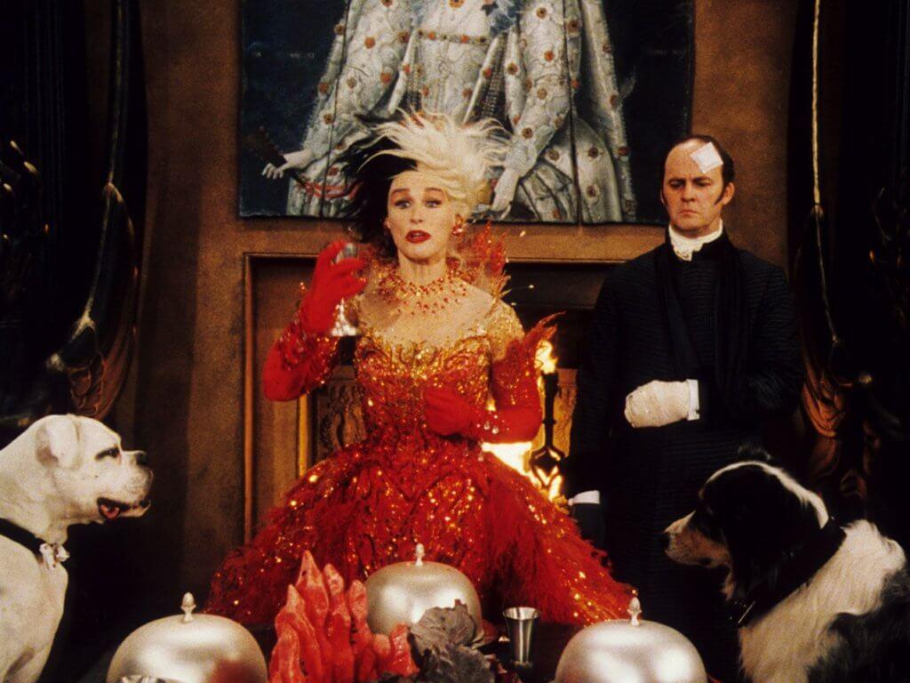 1996年上映的《101斑點狗》(101 Dalmatians)中的舊版庫伊拉
