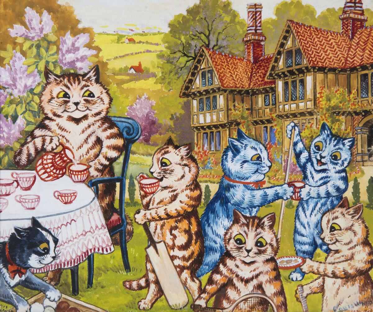 """他的畫作""""A Summer Tea Party""""(網上圖片)"""