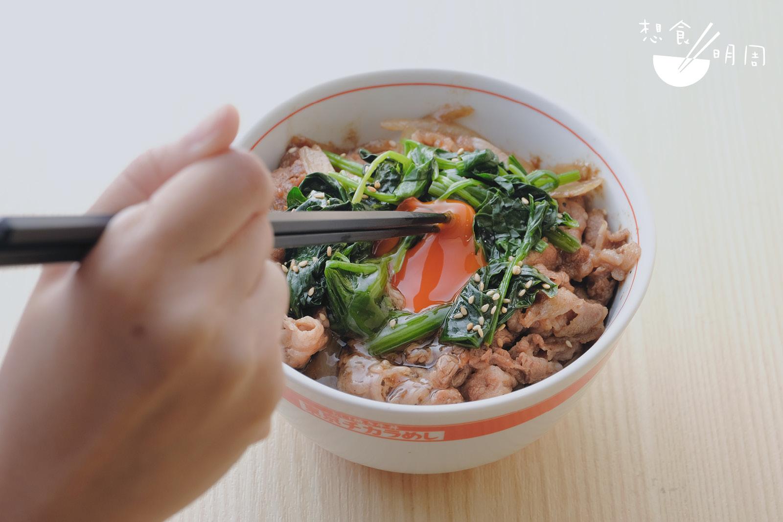 招牌燒牛肉丼配生雞蛋// 牛肉、雞蛋、醬汁和白飯,建構出一碗正宗滋味!($65)
