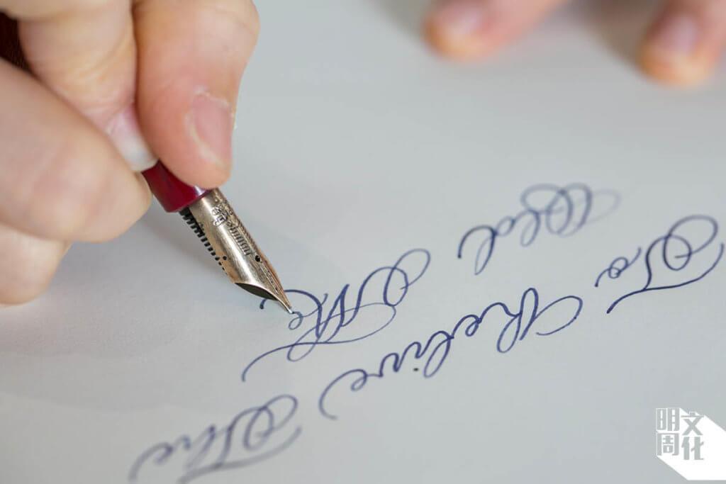 筆尖的造型,大小和弧位等設計都影響整體美感和書寫體驗。