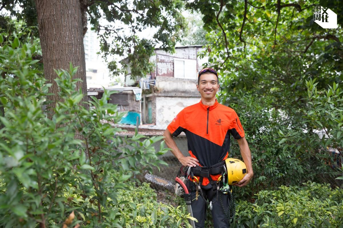攀樹師兼樹藝師馬學銘(Jason)