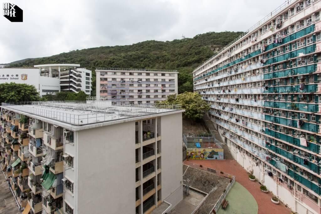 漁光村概貌,大廈有高度差距,避免「屏風效應」。