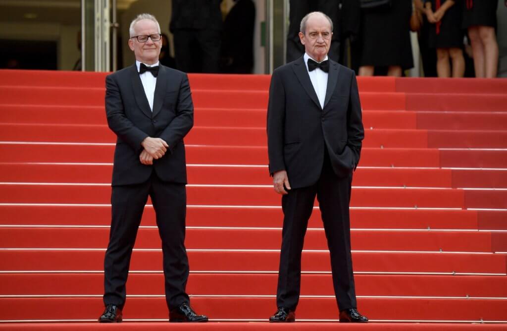 康城影展總監 Thierry Fremaux (左) 及主席 Pierre Lescure (右) 2019年11月,亦即社會運動激烈期間,曾經因與K11 Musea合辦「Festival de Cannes Film Week」而到訪過香港。