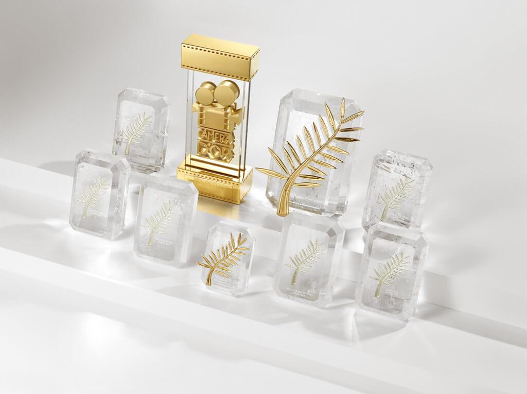 康城影展多個重要獎座均由蕭邦高級珠寶工作坊打造。