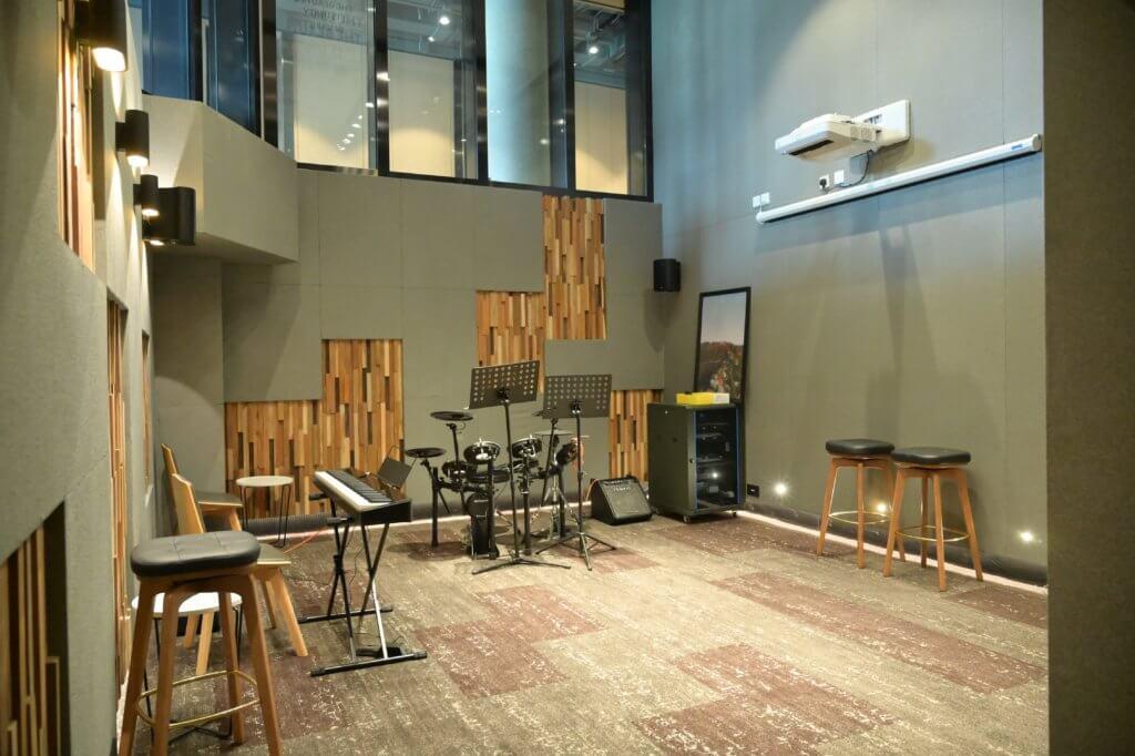 InnoCell每層皆有不同主題的共享空間,如健身房、Band房、個人工作空間等,促進不同創科人員的交流。