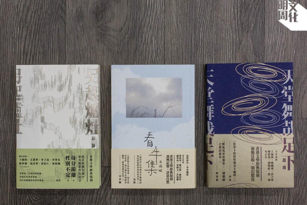 游靜《另起爐灶》、吳煦斌《看牛集》及崑南《天堂舞哉足下》都是經典復刻系列,小樺希望再版能夠讓更多讀者重讀經典,使香港文學不會有斷層。