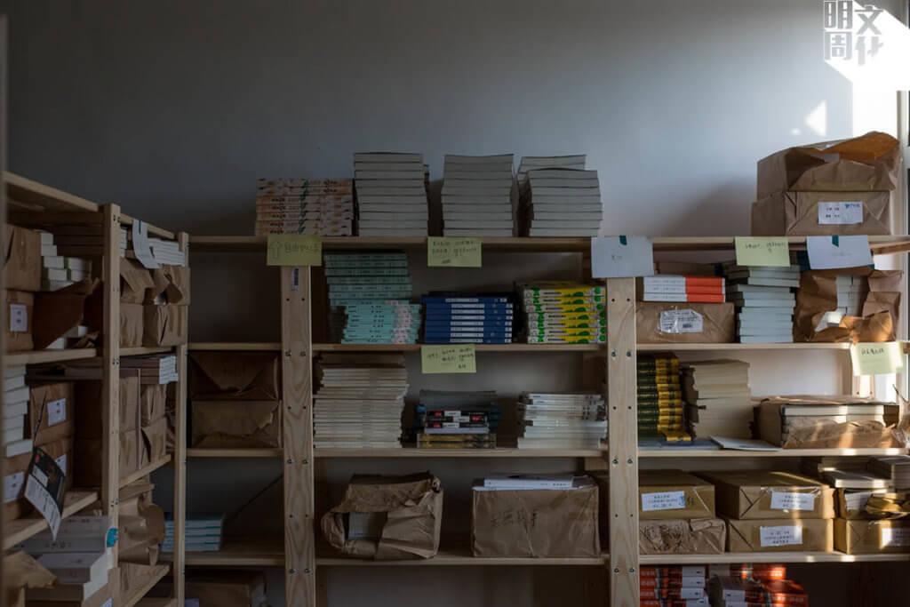 搬到新址後,編輯室闊落了,也能闢出倉存空間,對出版社來說十分重要。