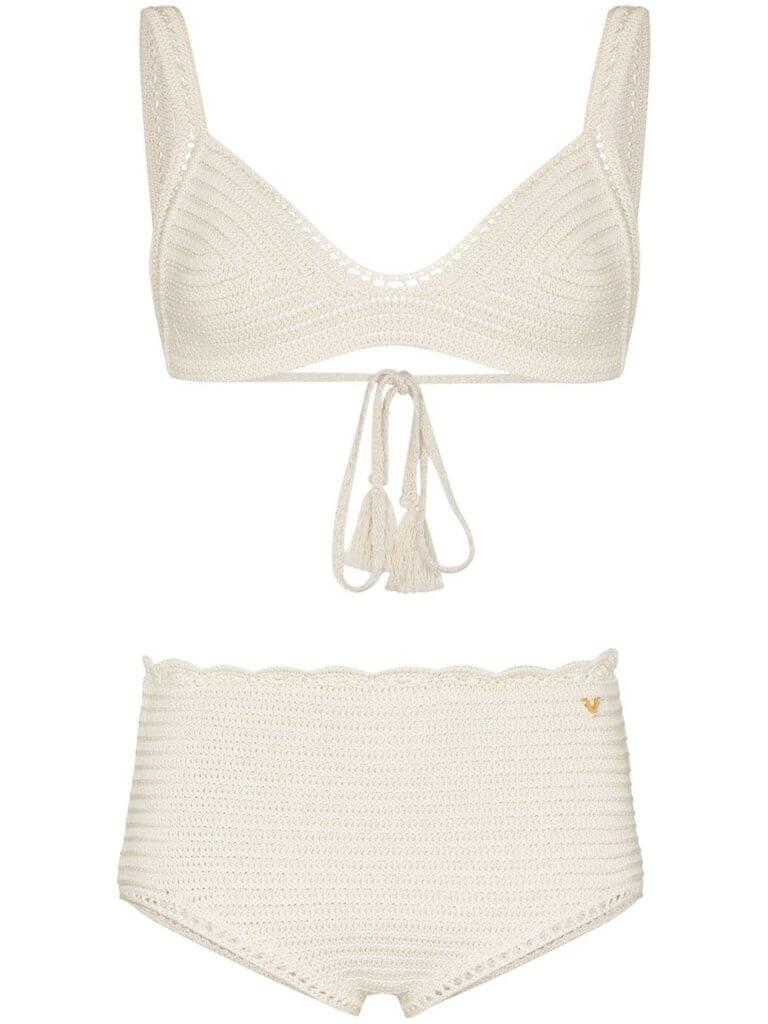 Valentino crochet-knit cotton bikini set